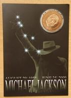 Médaille Encart Souvenir De Michael Jackson  1958-2009 - Professionnels/De Société