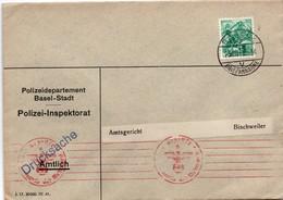 Basel Polizei 1941 - Geprüft Wehrmacht - Censure Pour Bischweiler - Censor - Schweiz