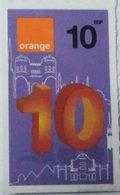 Egypt 10 Pounds- Orange - USED  (Small Size Refill Mobile Card) (Egypte) (Egitto) (Ägypten) Egipto - Egypt