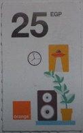 Egypt 25 Pounds- Orange - USED  (Small Size Refill Mobile Card) (Egypte) (Egitto) (Ägypten) Egipto - Egypte