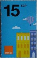 Egypt 15 Pounds- Orange - USED  (Small Size Refill Mobile Card) (Egypte) (Egitto) (Ägypten) Egipto - Egypt