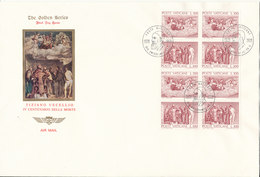 Vatican FDC 13-5-1976 Death Of Tiziano Vecellio, IV Centennial In Block Of 8 With Cachet - FDC
