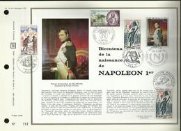 N° 19 DU CATALOGUE CEF . BICENTENAIRE DE LA NAISSANCE DE NAPOLEON Ier . 26 AVRIL 1969 . MONACO . - FDC