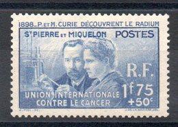 S.P.M. - YT N° 166 - Neuf * - MH - Cote: 25,00 € - St.Pierre Et Miquelon