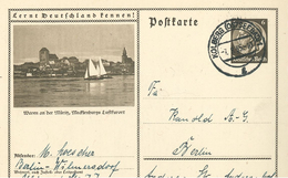 Ganzsache Bildpostkarte Müritz Waren MePo Kolberg Ostseebad 1935 Hindenburg - Covers & Documents