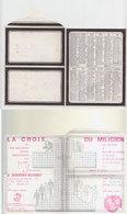 Calendrier  La Croix Du Milicien  1974 - Documents
