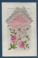 Carte Brodée Avec Pochette - Embroidered