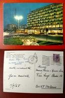(FG.W58) RICCIONE - PIAZZALE ROMA Di Notte - HOTEL LIDO MEDITERRANEO (RIMINI) - Rimini