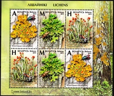 BELARUS 2019-12 FLORA Plants Fungi: Lichens And Insects. Souvenir Sheet, MNH - Mushrooms