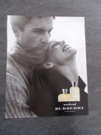 Publicité Papier Parfum - Perfume Ad : BURBERRY Weekend  France 1998 - Advertisings (gazettes)