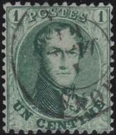 Belgie    .    OBP    .    13A  . 12½x13½       .       O       .      Gebruikt .   /   .  Oblitéré - 1863-1864 Medaillen (13/16)