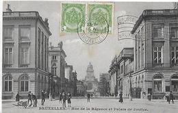 Autres. La Rue De La Régence Et Le Palais De Justice. - Andere