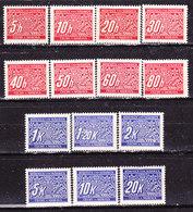 Germania-Protettorato Boemia E Moravia 1939/40 Segnatasse Serie Completa Nuova MLLH - Germany