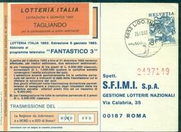 LOTERIE ITALIENNE Ob LIGORNETTO 1982 (suisse) - Games