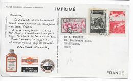 MAROC ESPAGNOL - 1953 - CARTE POSTALE MEDICALE De LARACHE => DRAGUIGNAN - Marocco Spagnolo