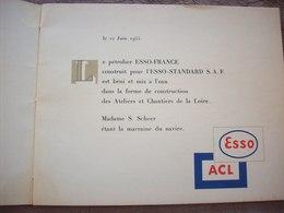 Le Pétrolier ESSO - FRANCE 20 Pages Est Béni Et Mis à L'eau Dans La Forme De Construction Des Chantiers De La Loire - Bateaux