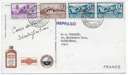 RIO DE ORO - 1953 - CARTE POSTALE MEDICALE De VILLA CISNEROS => DRAGUIGNAN - Rio De Oro