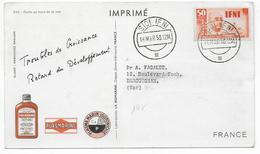 IFNI - 1953 - CARTE POSTALE MEDICALE De SIDI IFNI => DRAGUIGNAN - Ifni