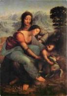 Art - Peinture - Léonard De Vinci - La Vierge L'Enfant Jésus Et Saitne Anne - Voir Scans Recto-Verso - Pittura & Quadri