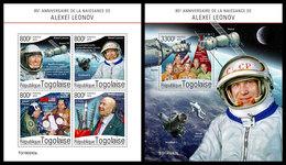 TOGO 2019 - Alexei Leonov. M/S + S/S. Official Issue - Espace
