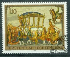 BM Liechtenstein 1978 MiNr 719 Used | Paintings, Golden Carriage Af Prince Joseph Wenzel (Martin Von Meytens) - Liechtenstein