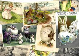 Lot 1836 De 10 CPA Lapins Bunny Dont Position Humaine Fantaisies Déstockage Pour Revendeurs Ou Collectionneurs - Cartes Postales