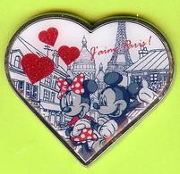 Pin's BD Disney Mickey Minnie Coeur J'aime Paris! (Tour Eiffel) - 6V07 - Disney