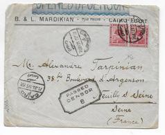 EGYPTE - 1917 - ENVELOPPE Avec CENSURE De CAIRO => NEUILLY SUR SEINE - 1915-1921 Protectorat Britannique