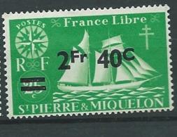 Saint Pierre Et Miquelon - Yvert N ° 319 (*)   - Ah 29821 - St.Pierre Et Miquelon