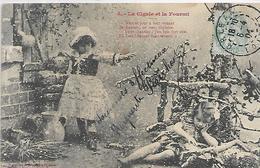 02, Aisne, CHATEAU-THIERRY, Fable De La Fontaine, La Cigale Et La Fourmi, Scan Recto-Verso - Chateau Thierry