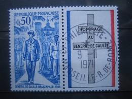 FRANCE    N° 1696 - OBLITERATION RONDE - Francia