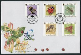 2001 Isle Of Man FDC / I.O.M. First Day Cover. Insects Bugs & Bees - Isle Of Man