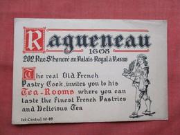France > [75] Paris  Ragueneau French Pastry Cook     Ref  3481 - Pubs, Hotels, Restaurants