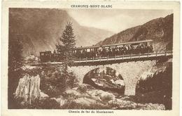 ( CHAMONIX  MONT BLANC   )(  74 HAUTE SAVOIE   ) ( CHEMIN DE FER ) DU MONTENVER - Chamonix-Mont-Blanc