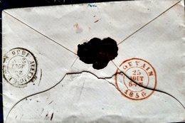 BADEN  ALLEMAGNE BELGIQUE LOUVAIN  CACHET 1856 LETTRE ADRESSEE ALOUVAIN - Marcophilie (Lettres)
