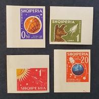 Albania 1962; Space, Cosmos, Animals & Fauna; Dogs; MNH, Neuf**, Postfrisch; CV 110 Euro!! - Albania