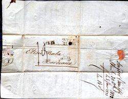NIZZA  CACHET TAMPON CS 11  NIZZA PAR ANTIBES 3 LETTRE ADRESSEE A BABA BORDEAUX 1833 - Marcophilie (Lettres)