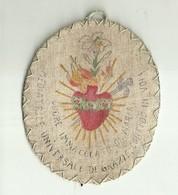 """4613 """" RELIQUIARIO IN TESSUTO CON TASCA POSTERIORE-CUORE IMMACOLATO DI MARIA """" ORIGINALE - Religion &  Esoterik"""