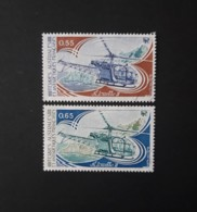 N° 92 Et 93       Hélicoptère  -  Alouette II - Tierras Australes Y Antárticas Francesas (TAAF)