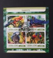 N° 7057 à 7060       Perroquets  -  Oblitérés - Sierra Leone (1961-...)
