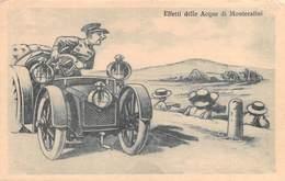 """4614 """" EFFETTI DELLE ACQUE DI MONTECATINI """"- CART. POST.ORIG. NON SPED. - Humor"""