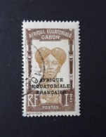 N° 105       Femme Bantou  -  1 Fr. Brun Et Brun Clair  -  Surcharge  Afique équatoriale Française - Gebruikt