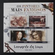 N° 7418 à 7421       Léonard De Vinci  -  Oblitéré - Mozambique