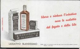 PUBBLICITA' - RABARBARO PIERANDREI - SU CARTA ASSORBENTE NUOVA - 21,50X12 - Carte Assorbenti