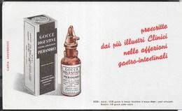 PUBBLICITA' - GOCCE DIGESTIVE PIERANDREI - SU CARTA ASSORBENTE NUOVA - 21,50X12 - F