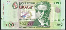 URUGUAY P93 20 Pesos 2015 UNC. - Uruguay