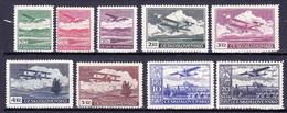 * Tchécoslovaquie 1930 Mi 303-10 (Yv PA 10-17), (MH) Trace De Charniere - Unused Stamps