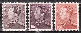 434/34A/34B**  Poortman - Les 3 Nuances - MNH** - COB 261.25 - LOOK!!!! - 1936-51 Poortman