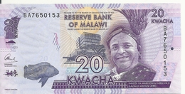 MALAWI 20 KWACHA 2016 UNC P 63 C - Malawi