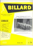 """Revue """" Le Billard """" N° 24 D'octobre 1964 (jm) - Sport"""